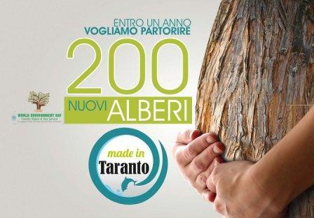 200 alberi da piantare in Taranto e provincia