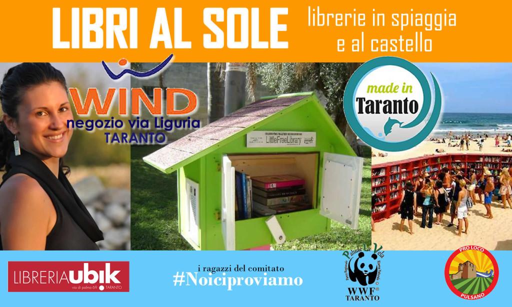 Libri al sole nelle spiagge della provincia di Taranto