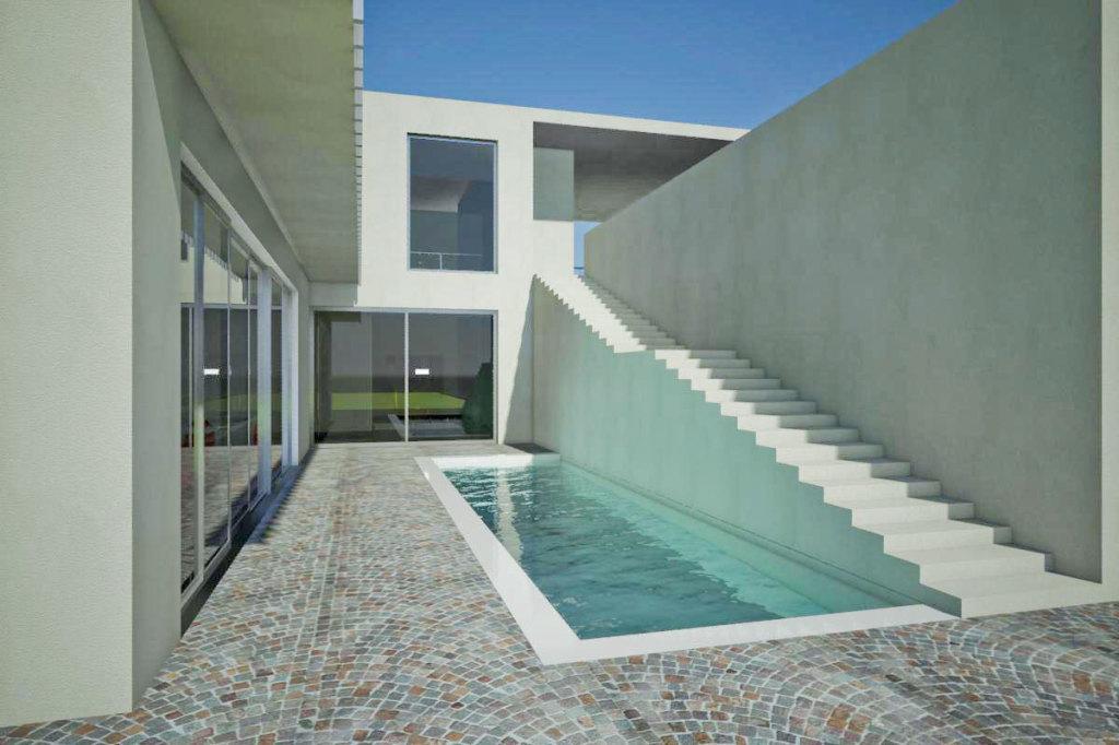 Progetto di ristrutturazione di residenza unifamiliare in Taranto. Progetto in corso.