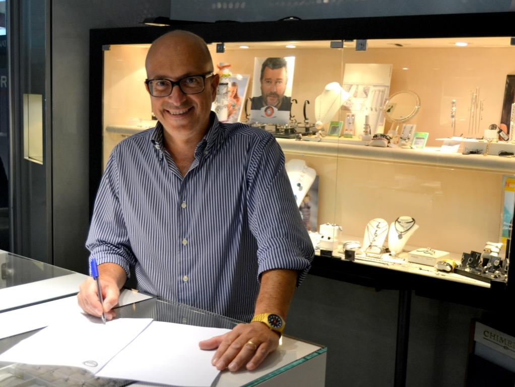 Giuseppe Toscano, titolare del negozio Verde Oro