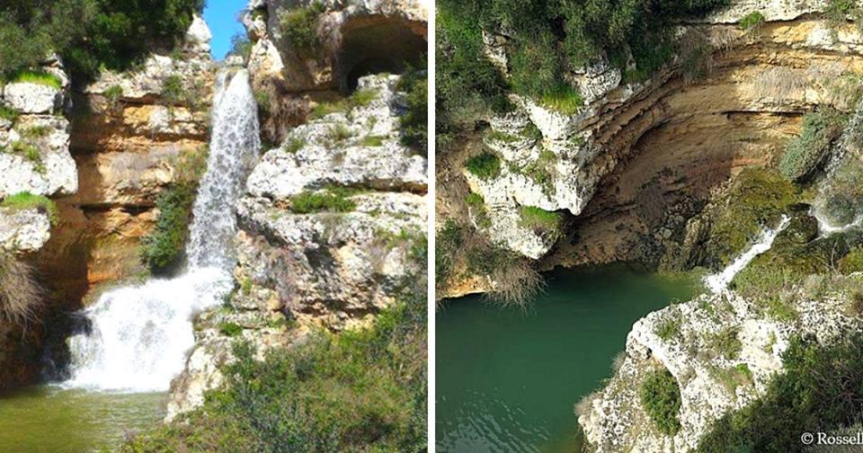 L'unica cascata circondata da grotte preistoriche: la Gravina di Riggio