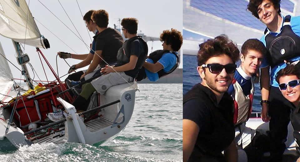 4 giovani velisti sono la fotografia di Taranto nel mondo