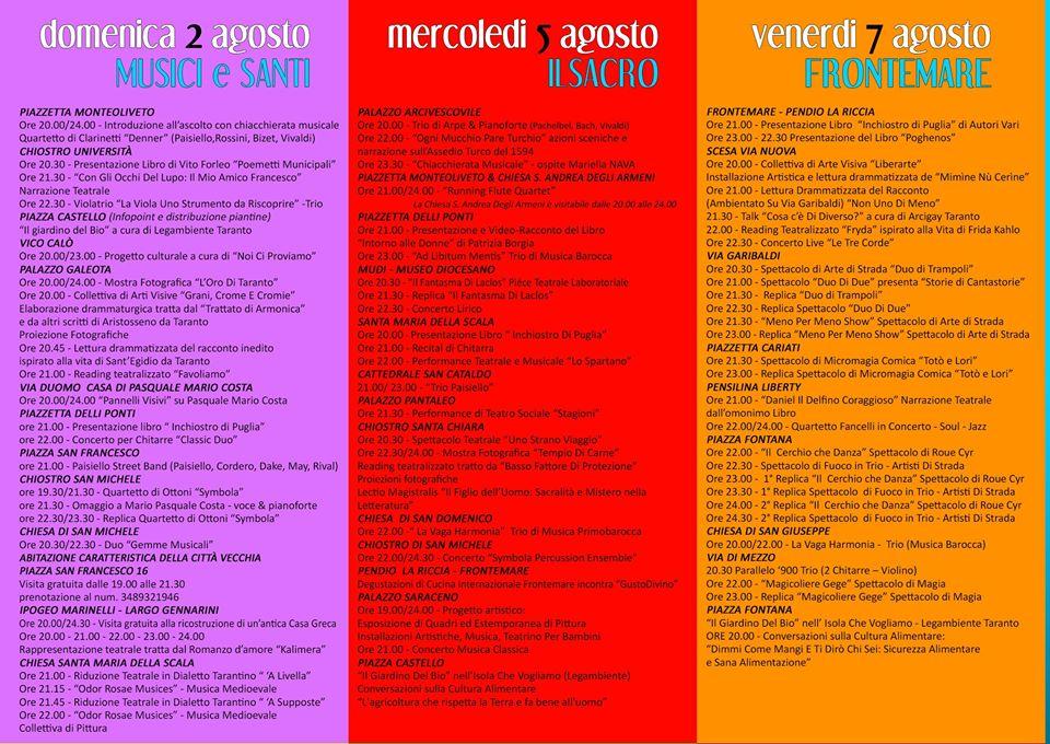 itinerari 2-5-7 agosto