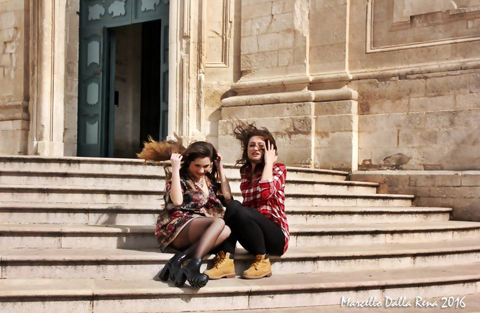 a spasso per Martina Franca con Chiara ed Elisa