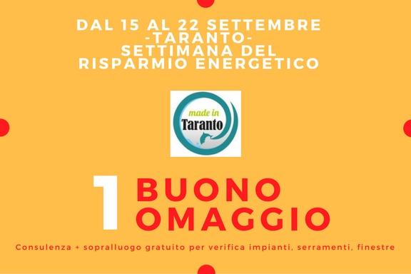 Settimana del risparmio energetico a Taranto: quanto consuma la tua casa?
