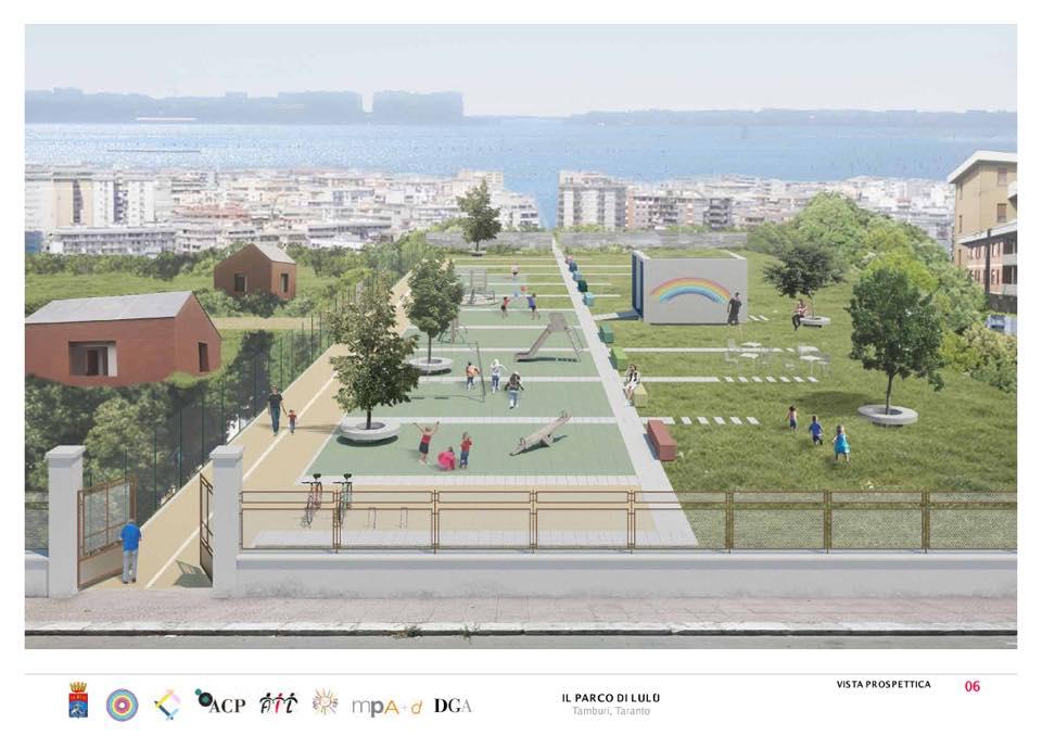 Il Parco di Lulù: sarà realizzato nel quartiere Tamburi di Taranto