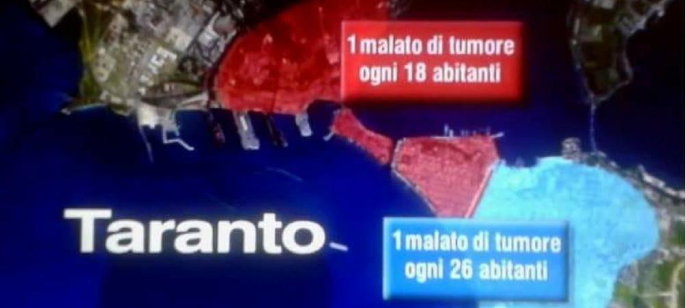 1 malato di cancro ogni 18 abitanti: lo Stato risarcisca Taranto