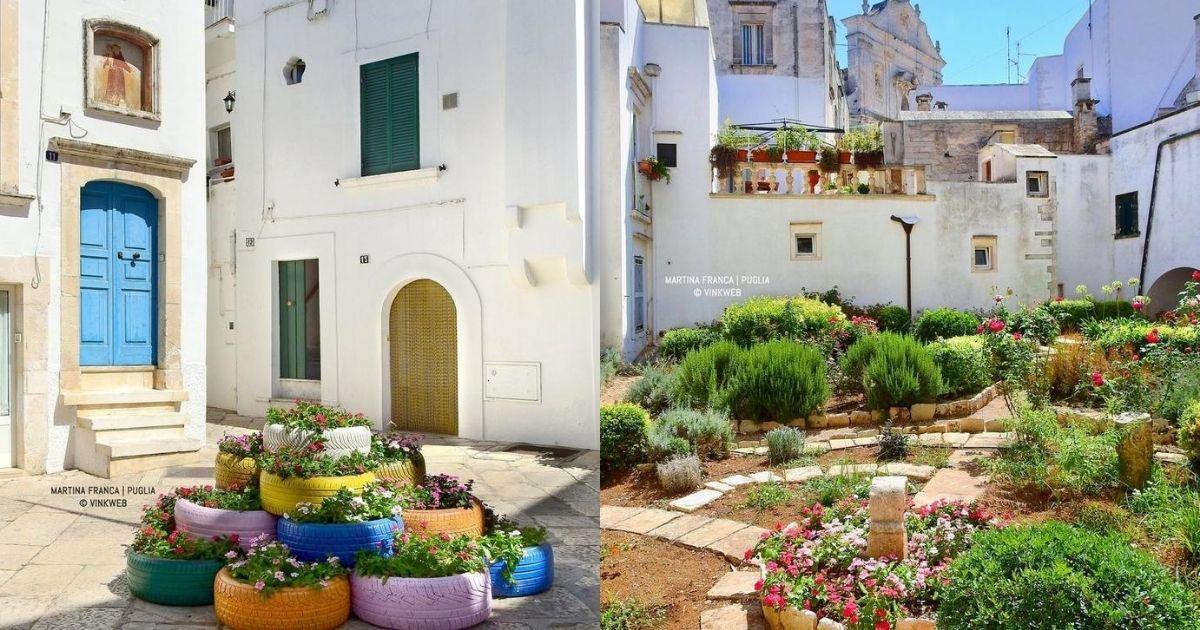 Pause verdi nel borgo di Martina Franca