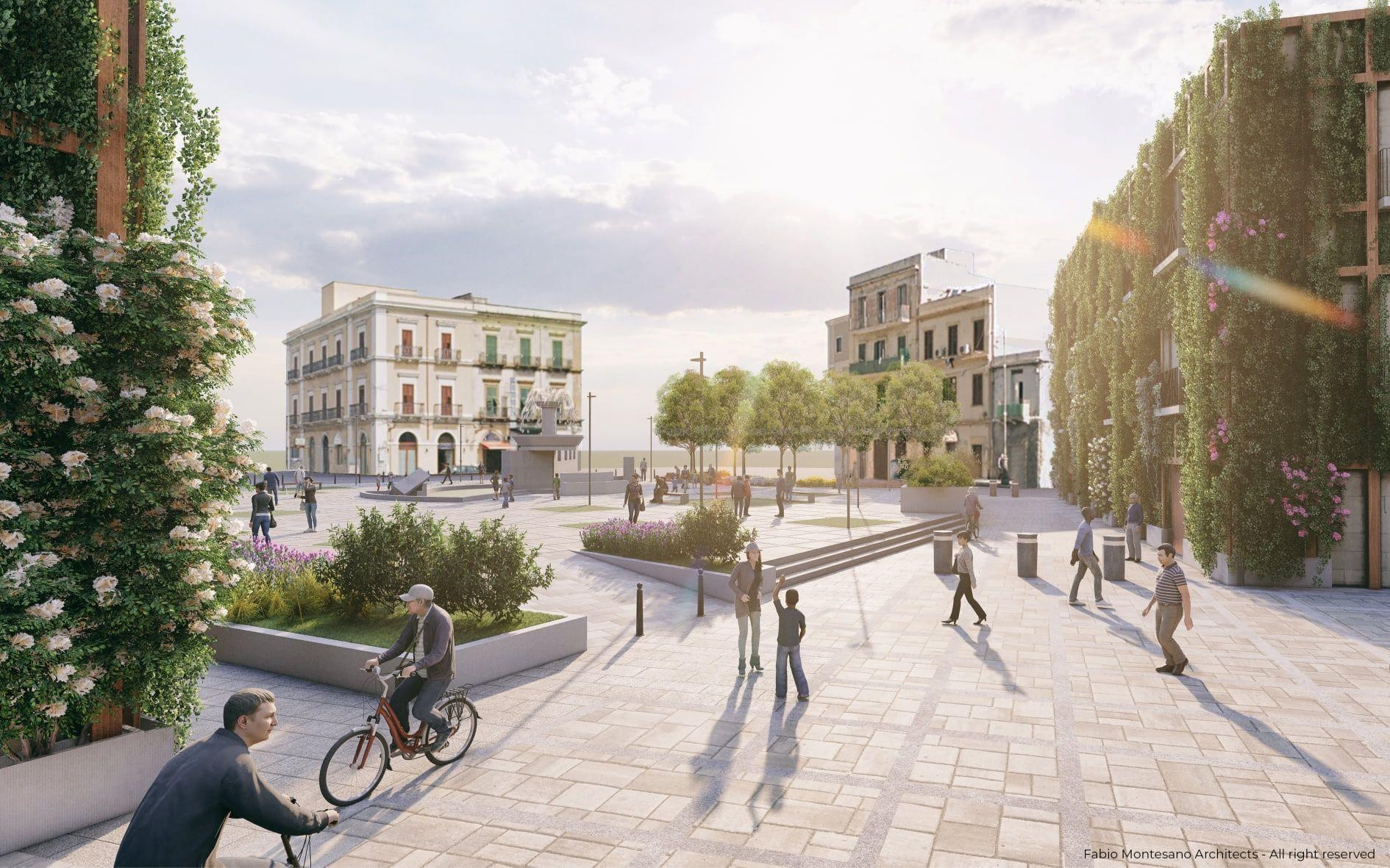 Piazza Fontana a Taranto